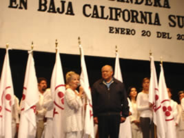 The Beautiful City of La Paz in Baja California Sur, Receives the International Banner of Peace